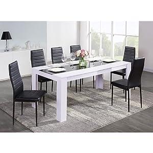 table à manger noir et blanche