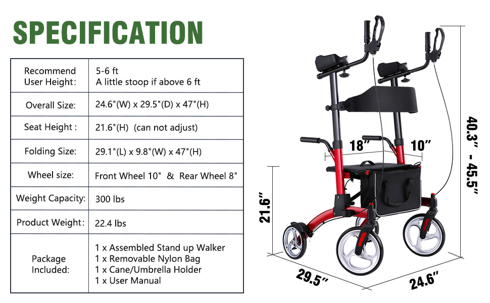 upright walker for seinors