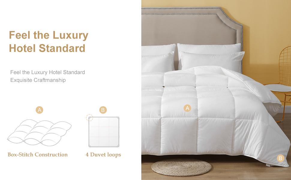 twin size 100% cotton microfiber comforter duvet down alternative