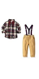 outfit set plaid shirt
