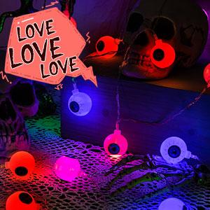 halloween eyeball string lights