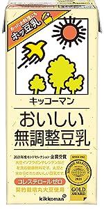 無調製 無調整豆乳 トウニュウ飲料 大豆 水 健康飲料 豆乳 キッコーマン グリコ