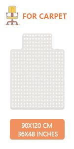 YOUKADA Office Chair Mat with Lip for Carpet