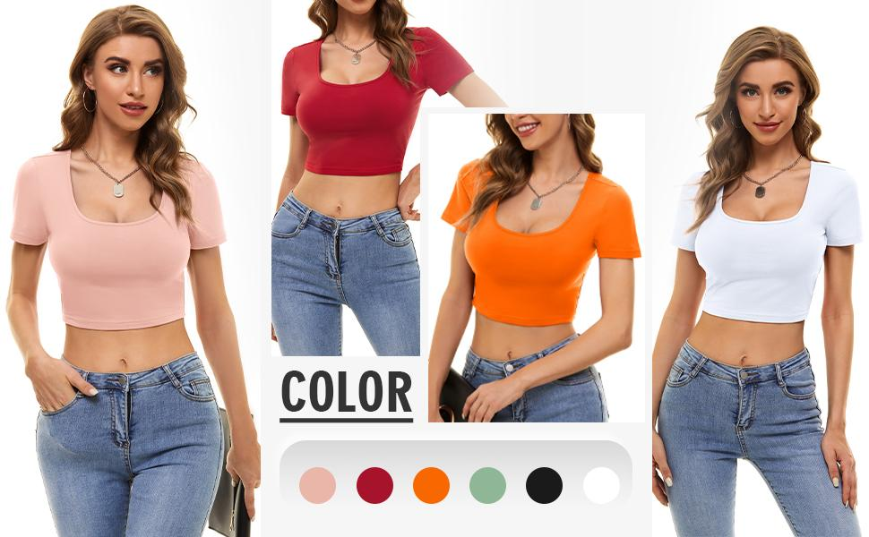 Plain t shirts for women  A variety of basic colors and summer popular colors for you.