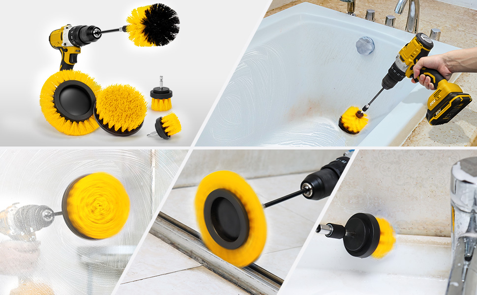 drill brush for detail cleaning
