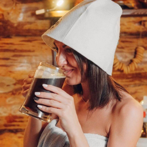 women sauna hat