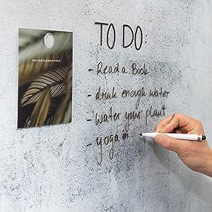 dry erase marker on glass board