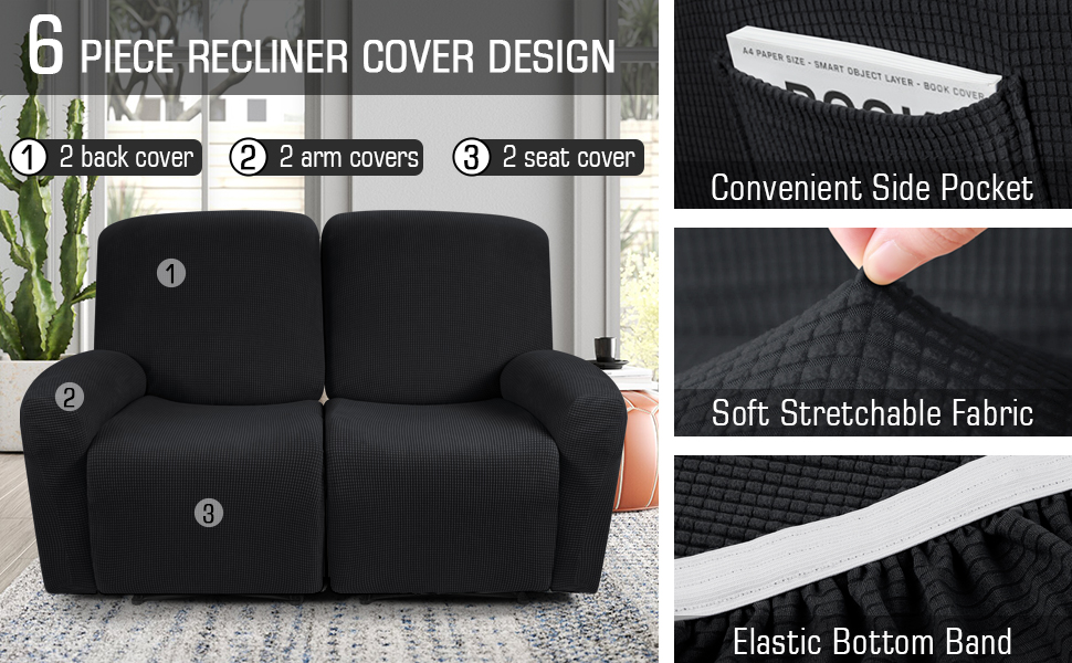 cover for recliner chair black