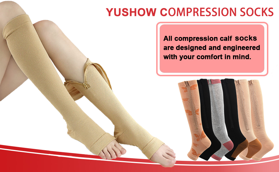 compression stockings with zipper