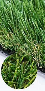 MTGRASS Artificial Grass Rug  4 Tone Synthetic Artificial Turf (36in x40in)