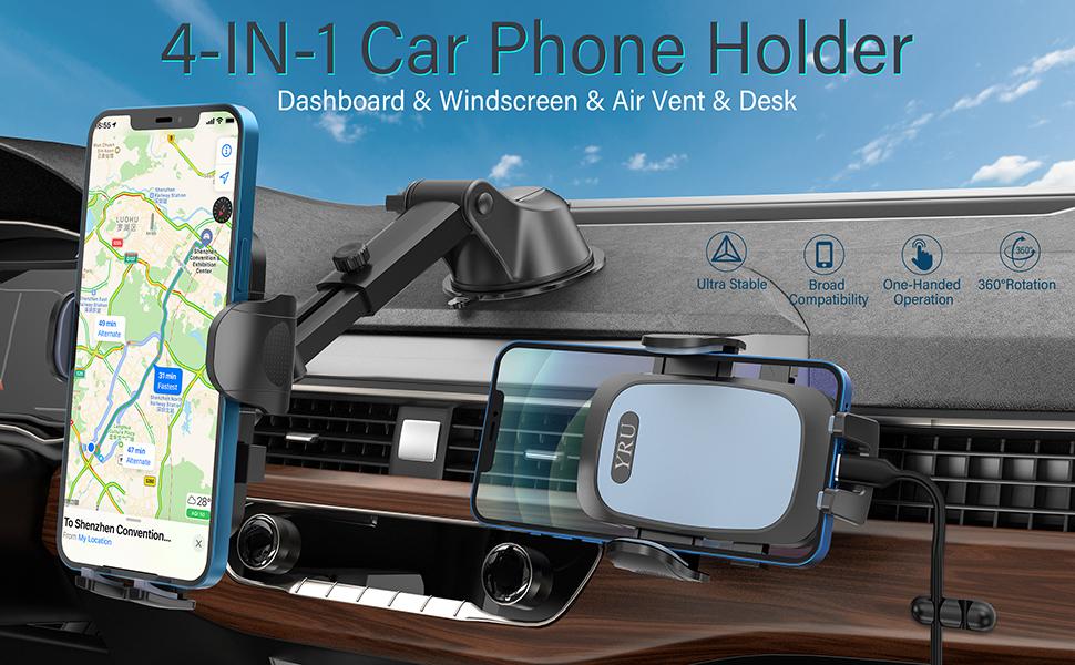 4-IN-1 Car Phone Holder