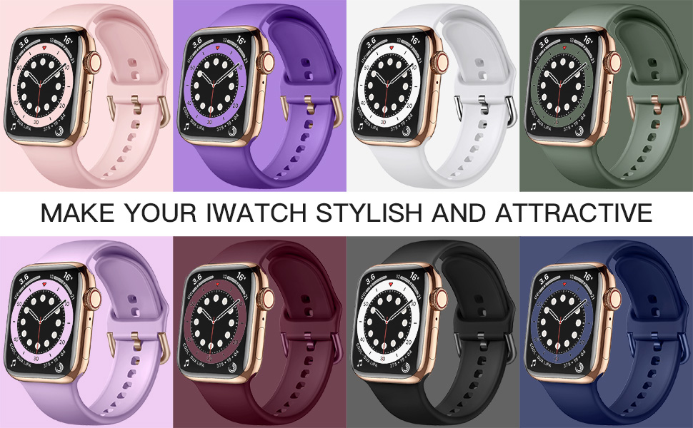 Maledan apple watch sport bands for iwatch 38mm 40mm 42mm 44mm