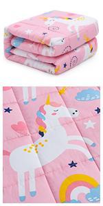 unicorn weighted blanket