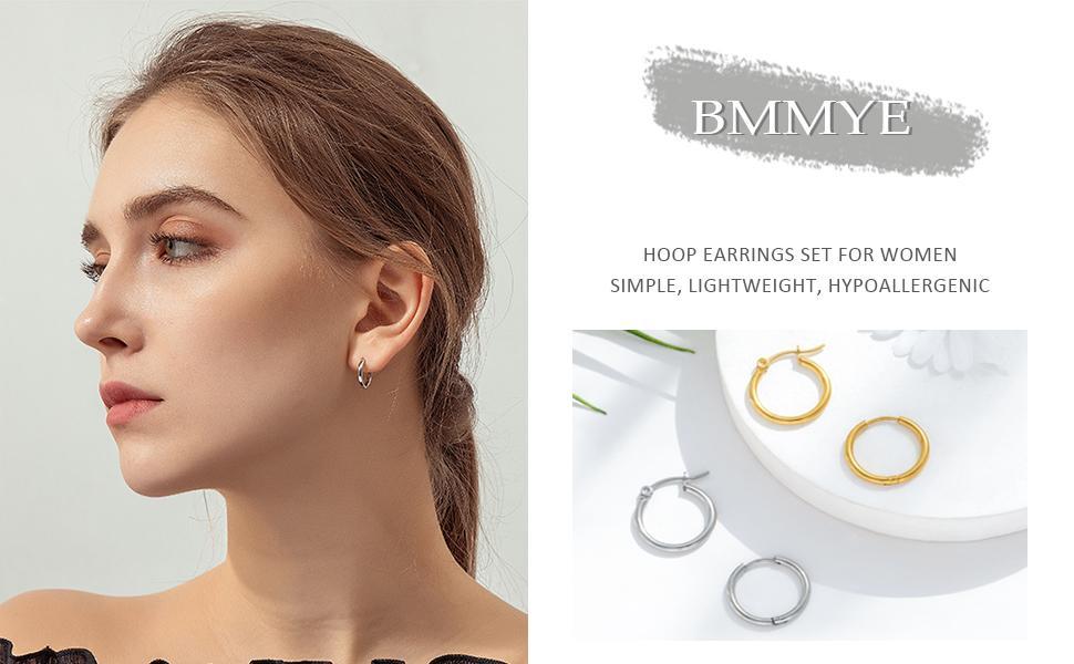 GOLD OR SILVER  Milky Way Earring Hypoallergenic Earrings Hoop earrings Terrazzo earrings Stainless Steel Minimalist earrings