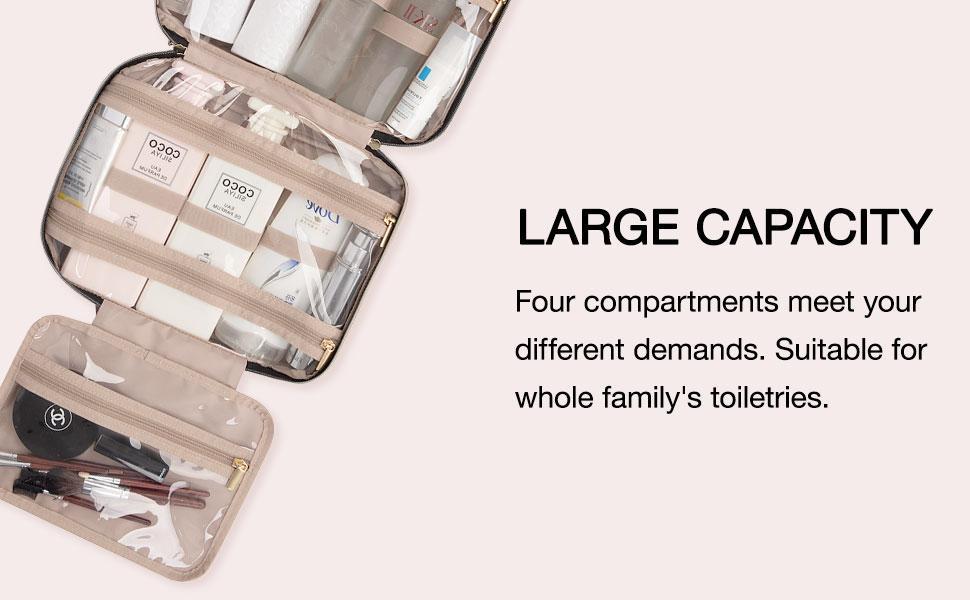BAGSMART Travel Toiletry Bag
