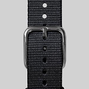 Correa de PET tejido en gris pizarra de 18 mm