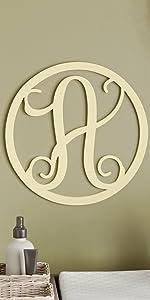 13amp;#34; Inch Vine Monogram