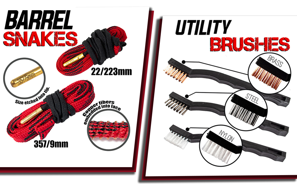 utility brushes and barrel snakes