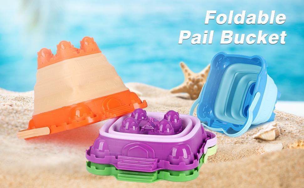 foldable beach bucket sand toys