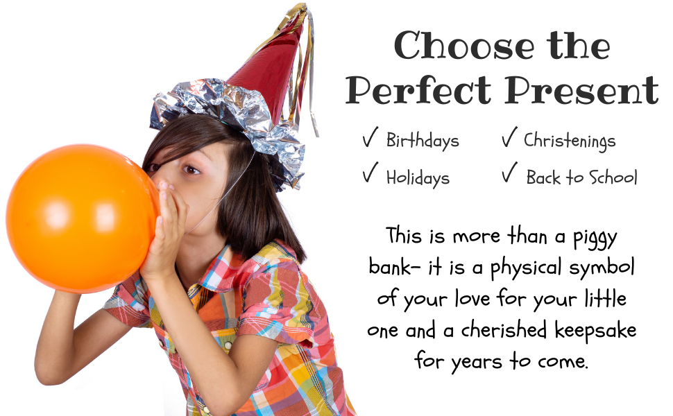 boy blowing up balloon with party hat