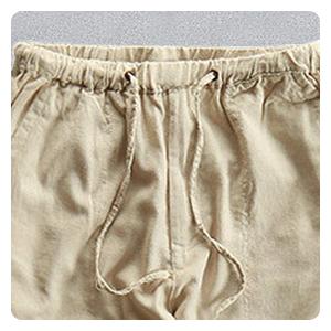 linen pants elastic waist linen pants men beach men drawstring pants mens beige linen pants
