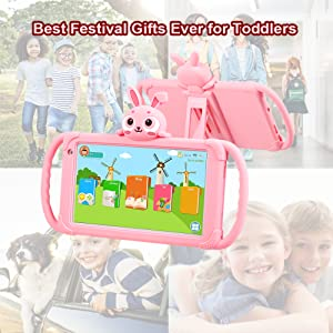 Kids Tablet 7 Inch Quad Core Kids Learning Tablet Android