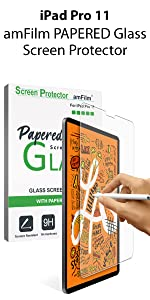 Papered glass screen protector comparison image