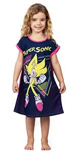 sonic the hedgehog girls nightgown