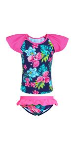 2pcs Girls Bikini Ruffle Swimsuits