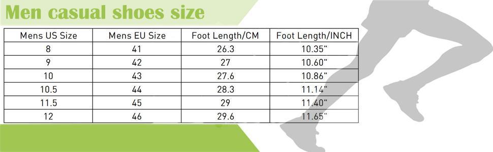 Men casual shoes size