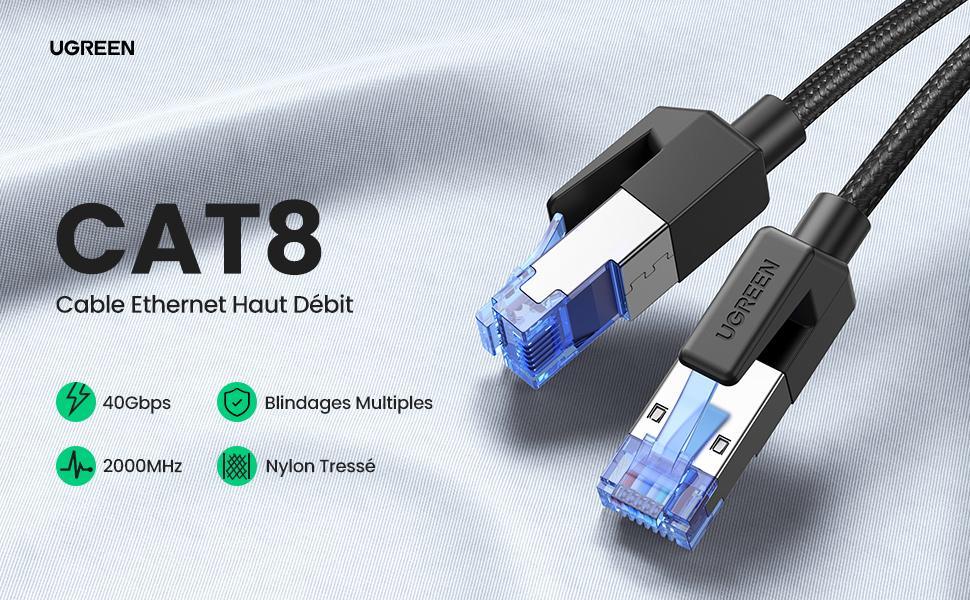 câble ethernet cat 8