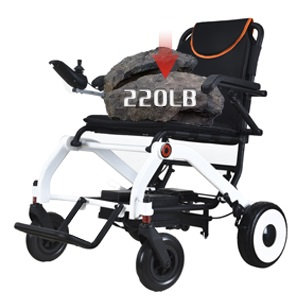 Electric wheelchair load-bearing