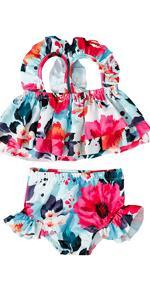 Baby Girl Swimsuit Toddler Girls 2pcs Swimwear Halter Top Bikini Bottoms Bathing Suit