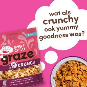 graze sweet chilly crunch peulvruchten & groenten snack