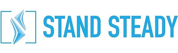 Stand Steady Logo - Light Blue