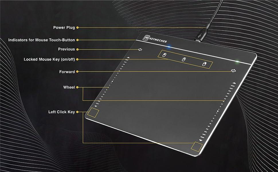Keymecher touchpad trackpad mouse wheel led indicator key