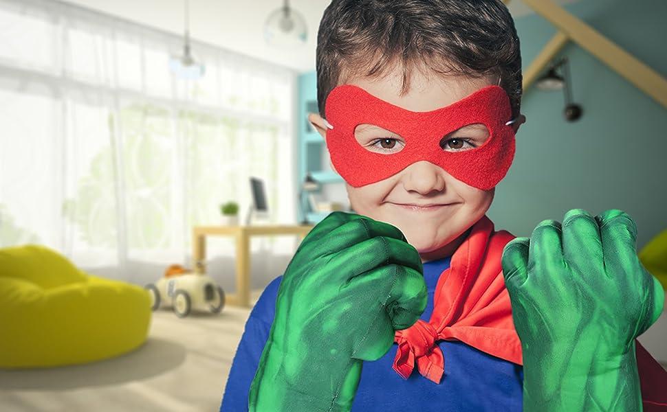 Green Hero Gloves for Kids