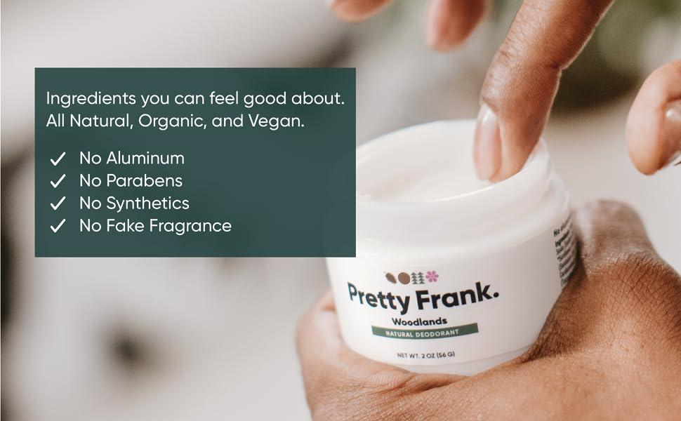 Natural Deodorant No aluminum, no parabens, no synthetics, no fake fragrance