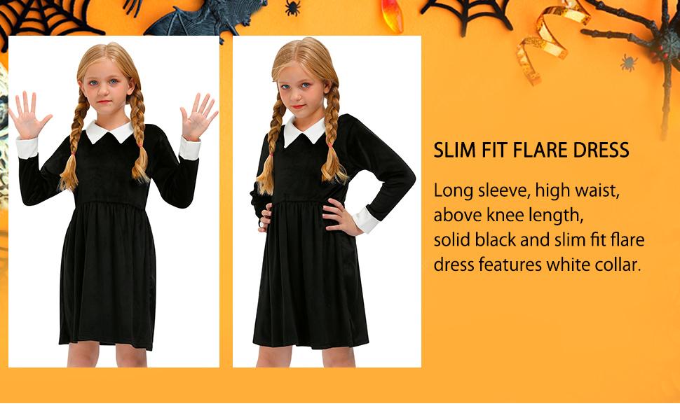 peter pan black dress girls
