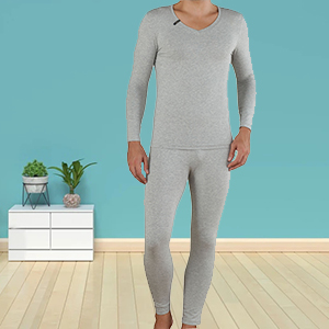 Mcuwer men gray thermal underwear