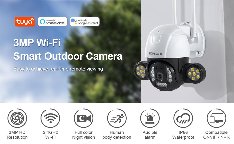 3mp WiFi Smart Outdoor Camera