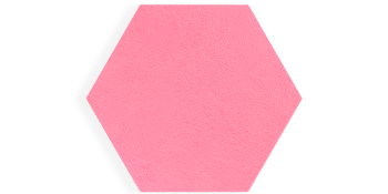 Hexagon bulletin board pink