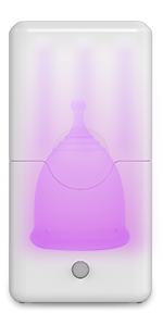 Menstrual Cup UV Light Sterilizer - Steamer & Sanitizer - Sterilization