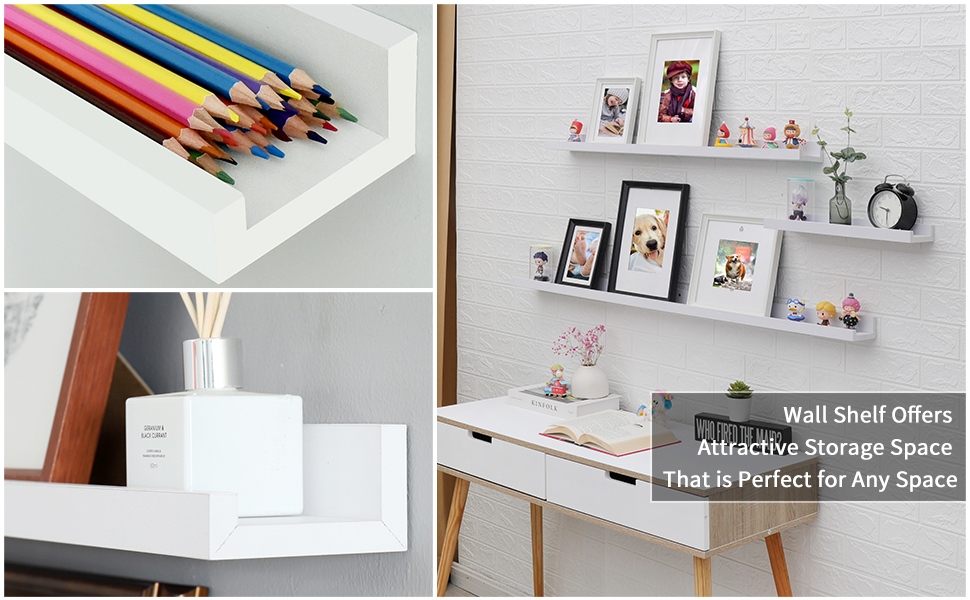 floating shelf set of 2