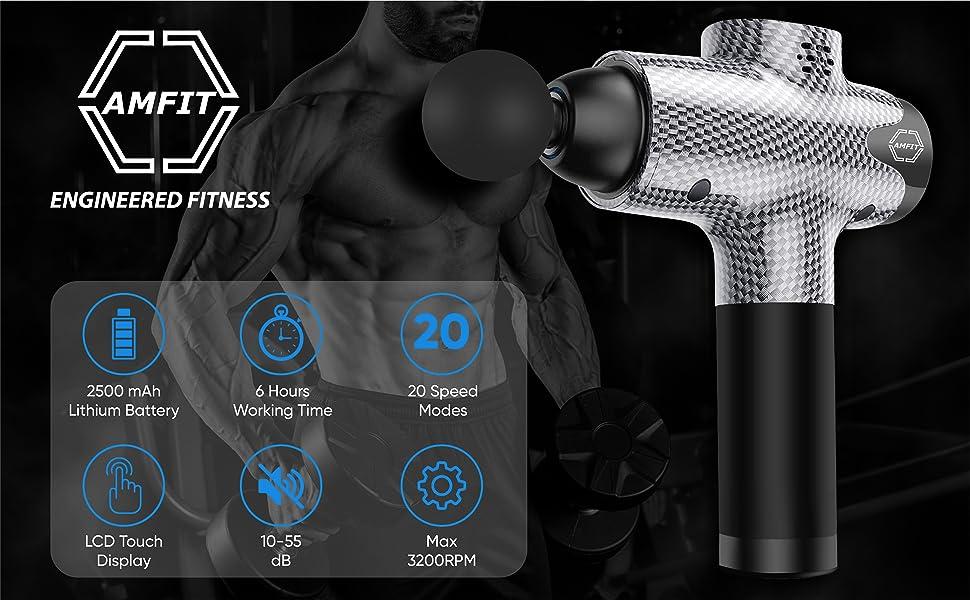 AMFit percussion massage gun deep tissue massager gun theragun massage gun for athletes muscle gun