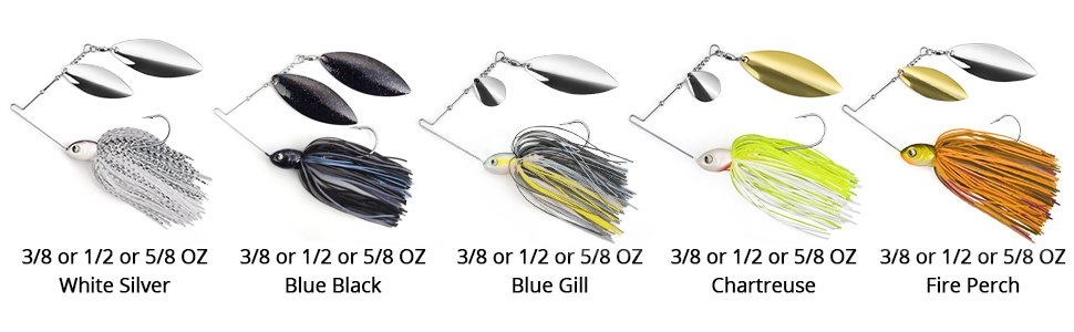 All color & Size of Spinnerbait