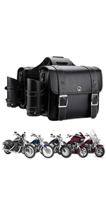 Motorcycle Saddebags with Cup Holders