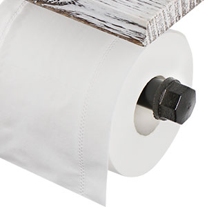 Pipe roll paper holder wall