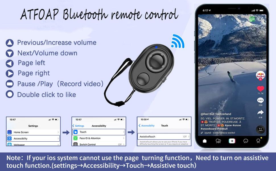 ATFOAP Bluetooth remote control