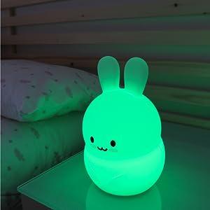 Säker och hygienisk leksak för barn. BPA-fri silikonlampa